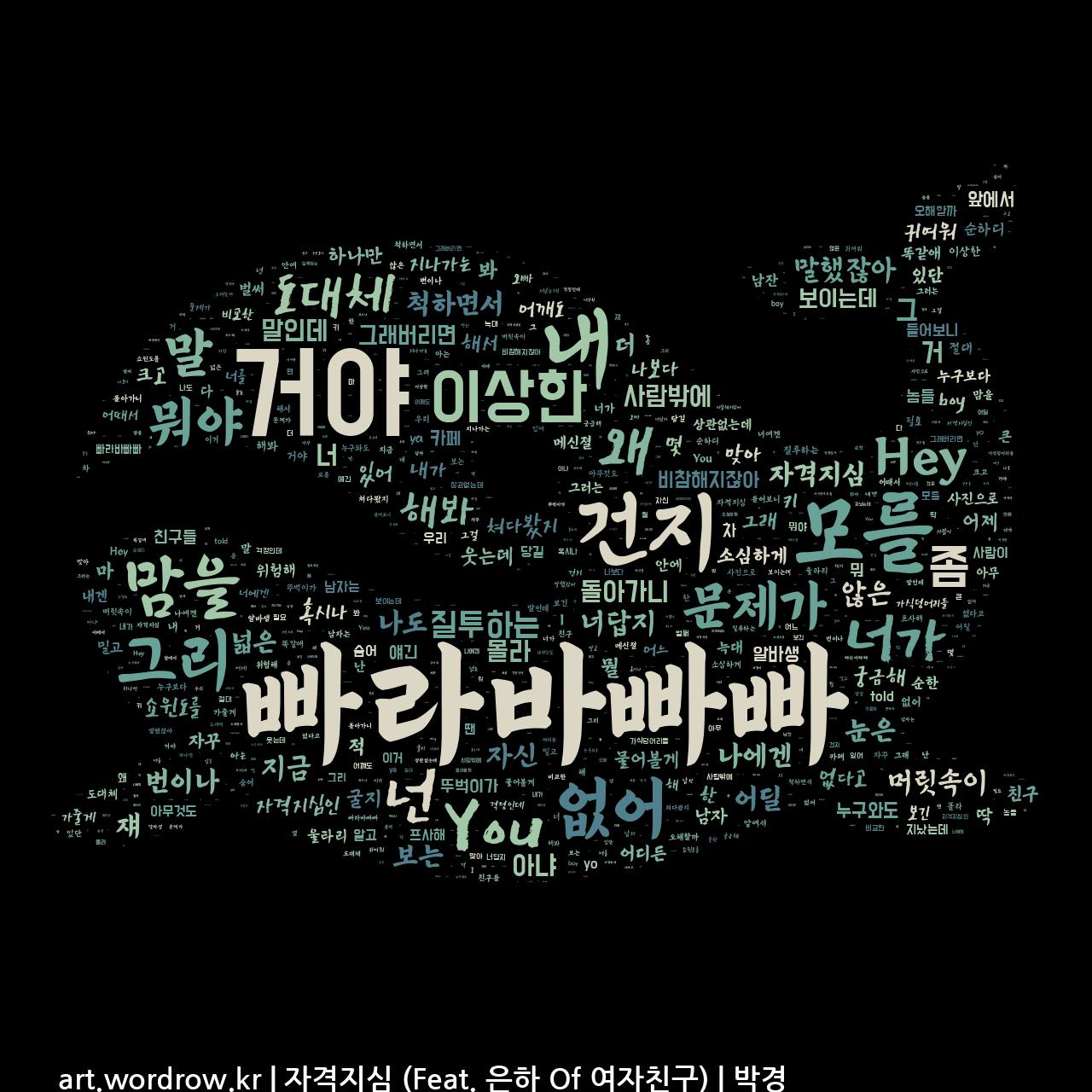워드 클라우드: 자격지심 (Feat. 은하 Of 여자친구) [박경]-62